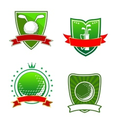 Golf emblems and symbols vector image
