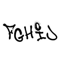 Graffiti spray font alphabet part 2 vector