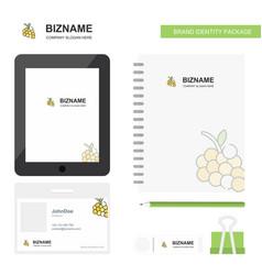 Grapes business logo tab app diary pvc employee vector