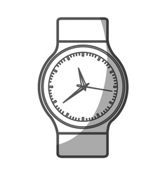 Grayscale silhouette of male wristwatch vector