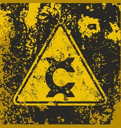 Grunge poster carcinogen vector