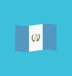 guatemala flag icon in flat design vector image