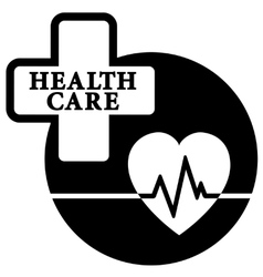 Health care medical icon vector