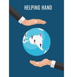 Helping Hand in Personal development Success vector