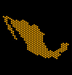 Hex-tile mexico map vector