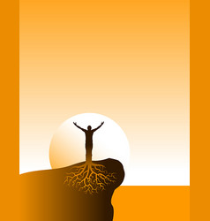 inspiritional well grounded person vector image