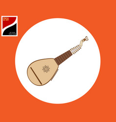 Kobza stringed musical instrument vector
