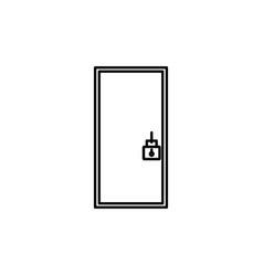 locked door icon vector image