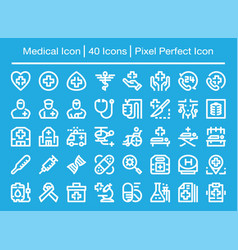 medical line icon vector image