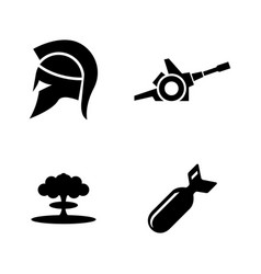 military and war simple related icons vector image
