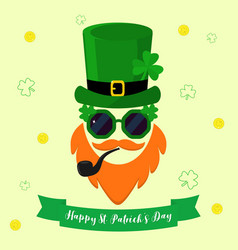 modern flat design icon for st patricks vector image