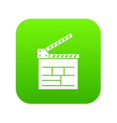 movie cracker icon green vector image