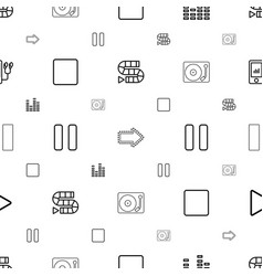 player icons pattern seamless white background vector image
