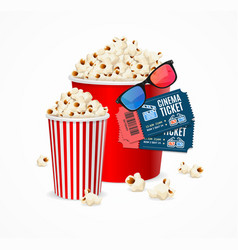 realistic 3d detailed cinema concept card vector image