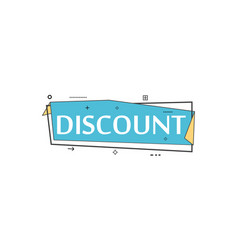 retail speech bubble with discount phrase vector image