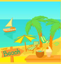 Sea travel concept cartoon style vector