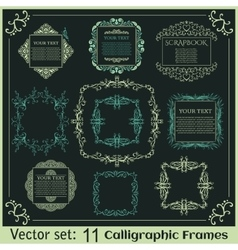 Set of Vintage calligraphic frames vector image