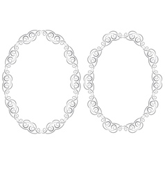 Set openwork frame vector