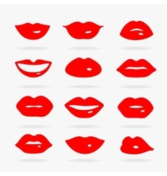 set symbols lips vector image