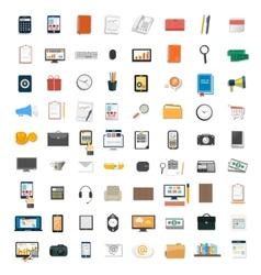 Set various financial service items vector