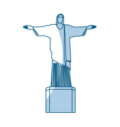shadow redeemer christ statue vector image