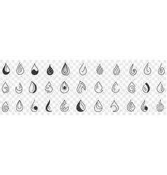 shapes drops doodle set vector image