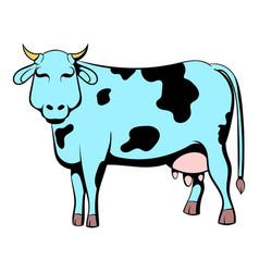 spotted cow icon cartoon vector image