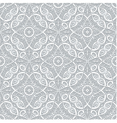 Swirly seamless pattern in grey color vector