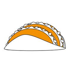 tacos food flat vector image