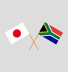 The south african and japanese flags vector