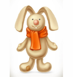 Toy rabbit 3d icon vector
