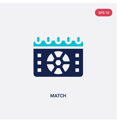 Two color match icon from football concept vector