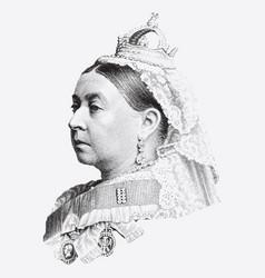 vintage engraving queen victoria vector image