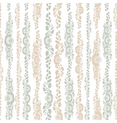 Vintage shabchic seamless pattern with flowers vector