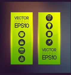 Web green vertical banners vector