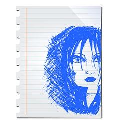 Woman doodle vector image