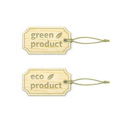 Eco tags set 15 vector image