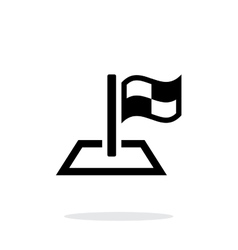 Racing flag icon on white background vector image