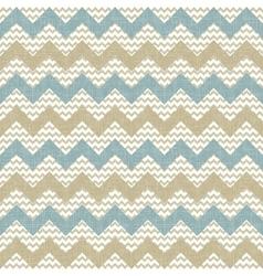 Seamless chevron pattern on linen texture vector image
