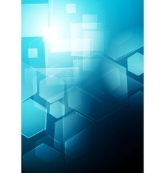 Blue technology geometric background vector image vector image