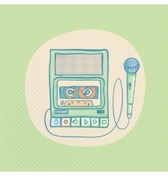 Handheld tape recorder vector image
