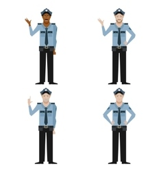 Set of Police men vector image vector image