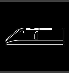 speed train white color path icon vector image