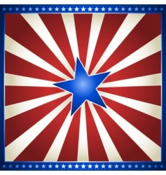 star burst in usa colors vector image vector image