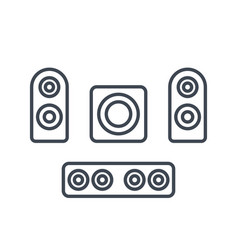subwoofer speakers sounbar icons vector image vector image