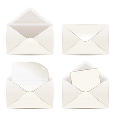 white envelope isolated on white background vector image