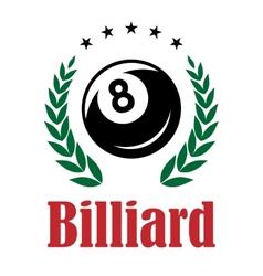 Billiards and snooker emblem vector image