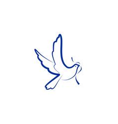 dove bird logo vector image