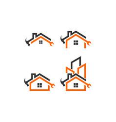 Home builder logo template vector