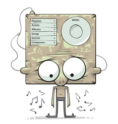 Listening to music vector